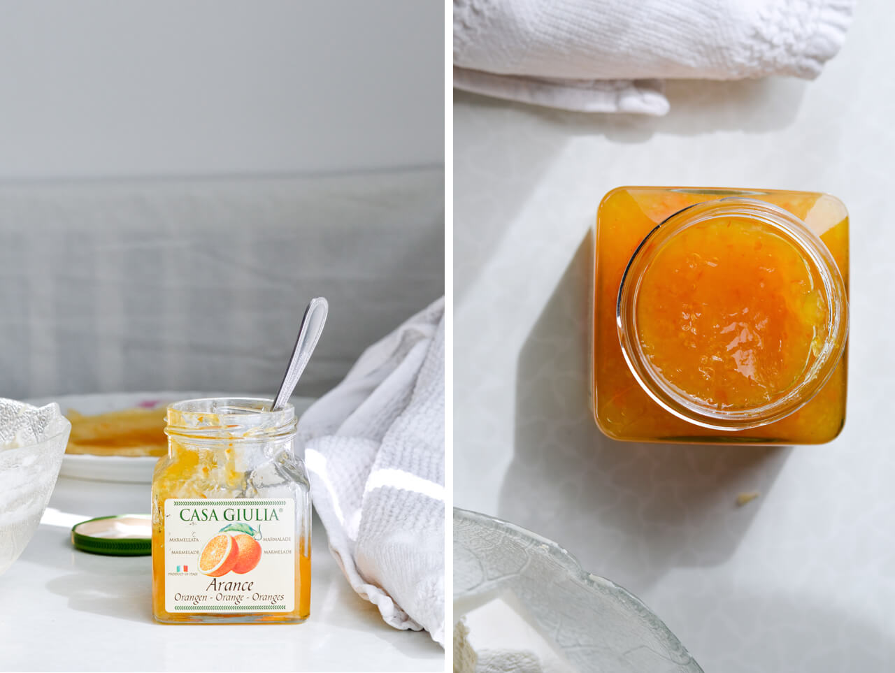 orange marmalade for orange ricotta crepe cake